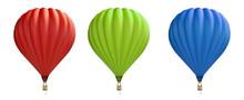 Hot Air Balloon Red, Blue, Gre...