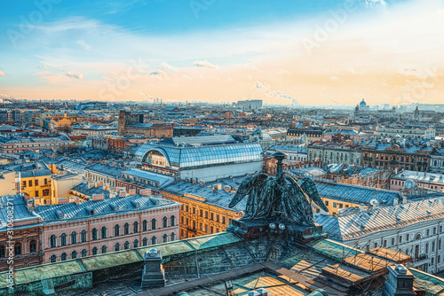 Panoramic view from the roof of St. Isaac's Cathedral. Saint Petersburg. Russia. - 310608271