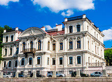 The Countess's Mansion Karlova. Memorial Library Of Prince Golitsyn. City Library Named After Mayakovsky. Building On The Fontanka Embankment. St. Petersburg, Russia