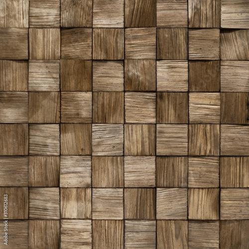 Mozaika z drewnianych kwadratów tło