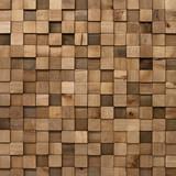 Fototapeta Tulipany - Mozaika z drewnianych kwadratów tło
