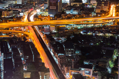 City of Bangkok  where is the capital city of Thailand covering with air polluti Wallpaper Mural