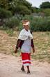 canvas print picture - bushman old woman
