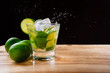 "Brazilian Drink with alcohol and lemon, ""Caipirinha"""