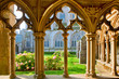 canvas print picture - cloister of  Saint-Tugdual cathedral at  Treguier