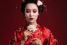 Image Of Beautiful Geisha Woma...