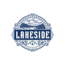 Lakeside Vintage Logo Design I...