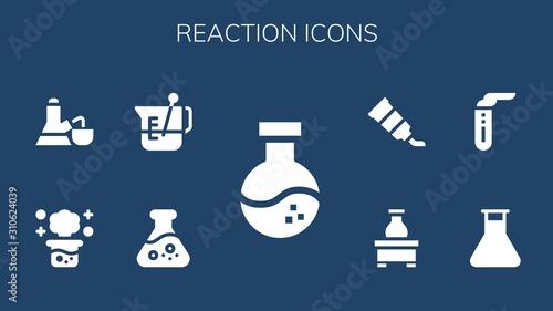 reaction icon set Wallpaper Mural
