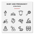 Baby and pregnancy icons set vector illustration