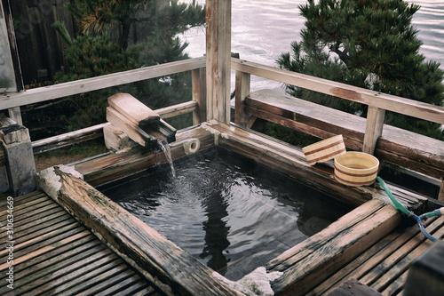 Cuadros en Lienzo Japanese open air hot spring