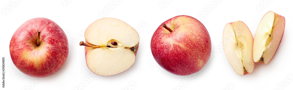 Fototapeta Fresh apple on white background