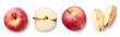 Fresh apple on white background