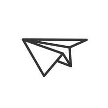 Paper Airplane Icon. Vector Il...