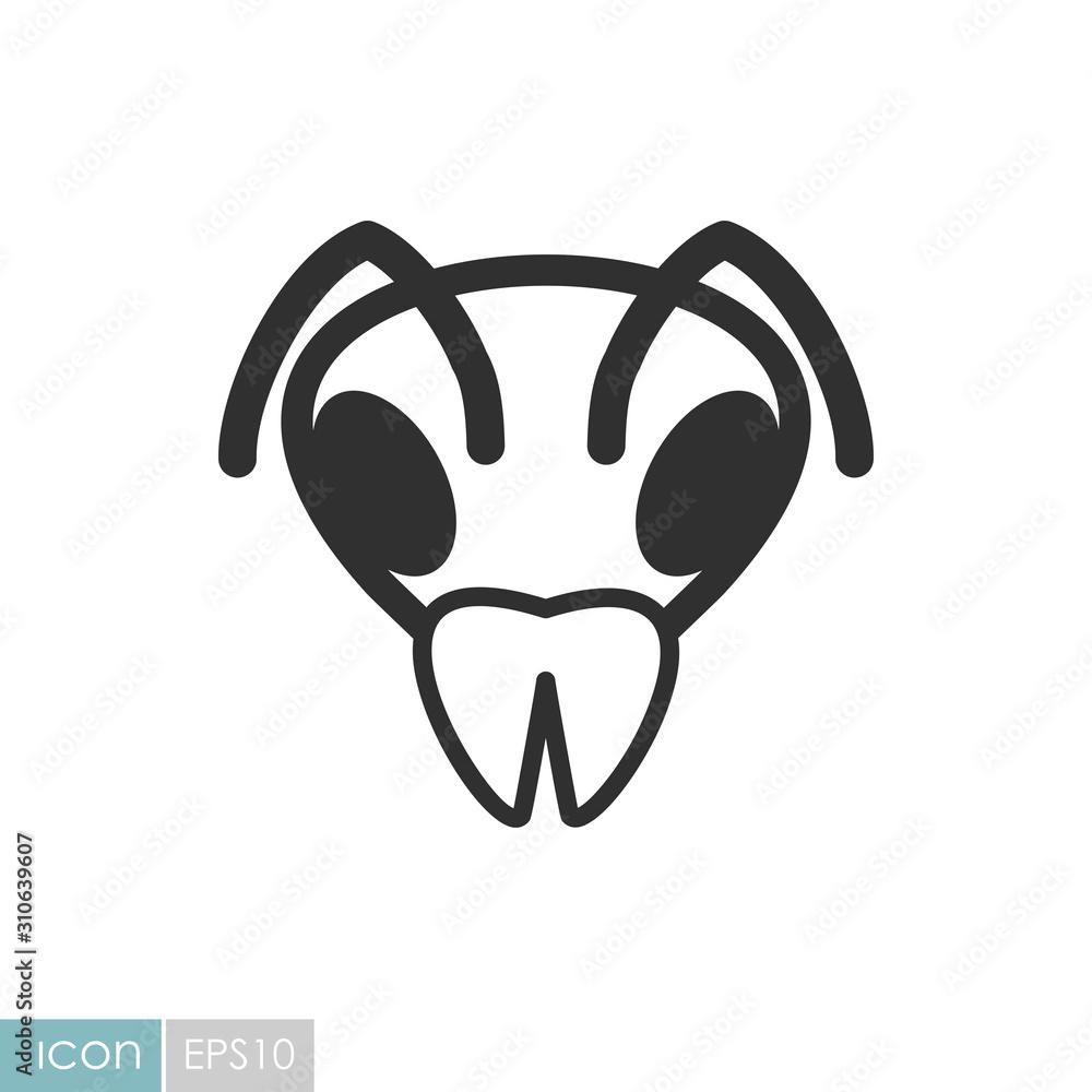 Fototapeta Bee icon. Animal head vector symbol