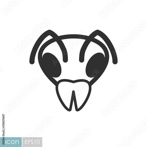 Fototapeta Bee icon. Animal head vector symbol obraz