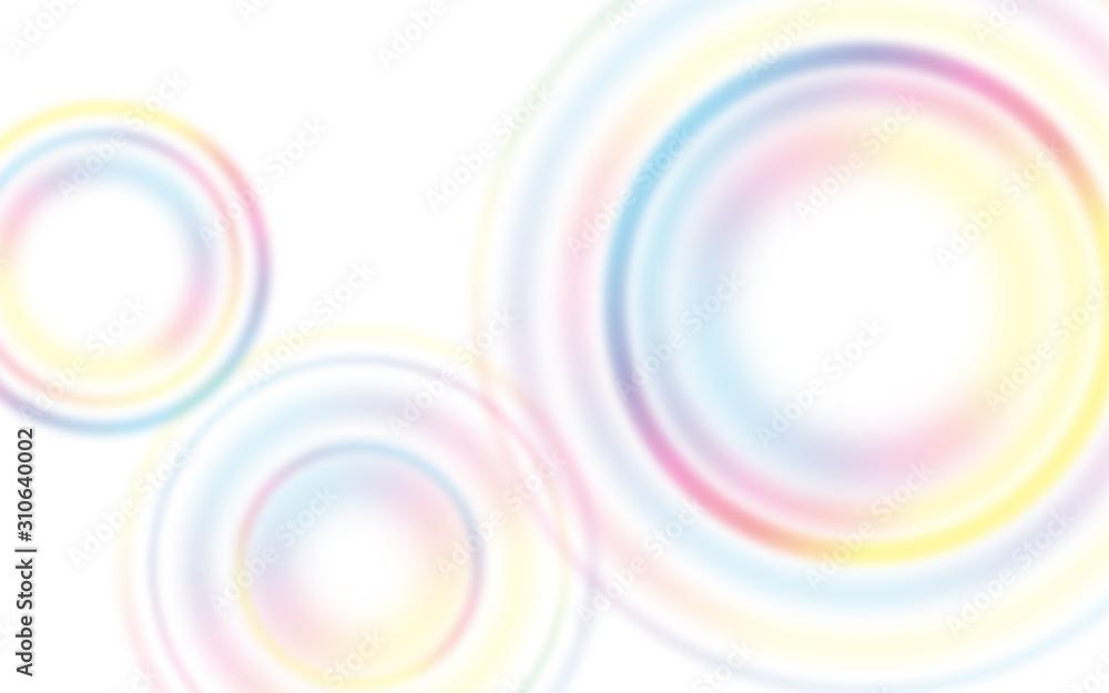 カラフルポップな円形グラデーション背景