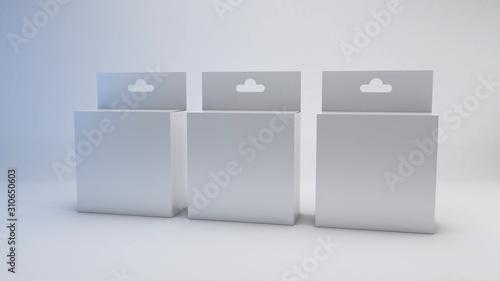 White blank package mockup Wallpaper Mural