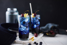 Fresh Blueberry Cocktail With ...