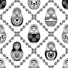 Russian Nesting Doll Vector Se...