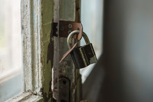 Old Master Key Lock, Rusty Clo...