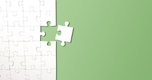 Top View Of Jigsaw Puzzle With...