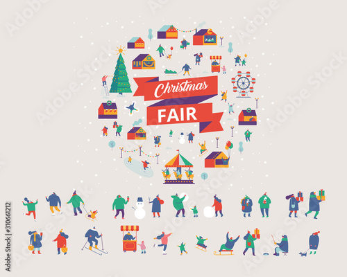 Photographie Christmas market and holiday fair