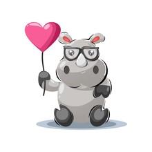 Playful Hippo Mascot Cartoon Design Vector