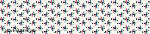 Valokuvatapetti Classic Blue Broken Criss Cross Vector Marks Seamless Banner Pattern