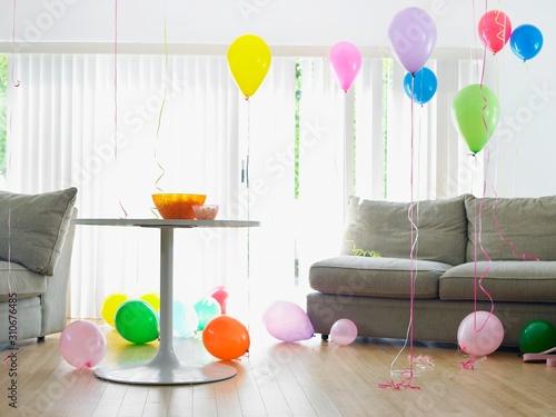 Living Room Full Of Balloons Canvas Print