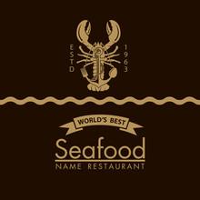 Seafood Menu Design With Lobst...