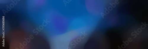 soft blurred horizontal background with strong blue, very dark blue and dark sla Fototapet