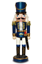 Nutcracker German Isolated Soldier Figure Christmas Decoration
