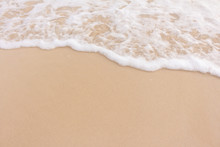 Soft Beautiful Wave  On Sandy ...