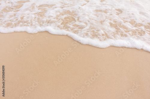 Soft beautiful wave  on sandy beach. Background.