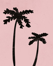Palm Trees Tropical Abstract P...