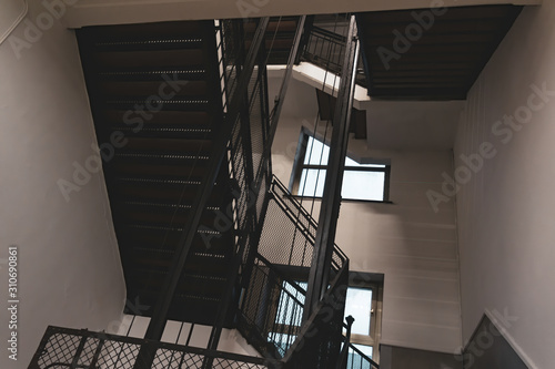 Old iron stairs and windows