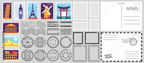 Fotomural Postage stamps