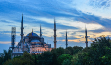 Famous Blue Mosque At Twilight