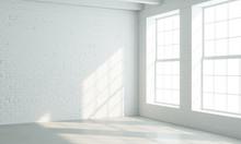 Loft Style Interior With White Windows