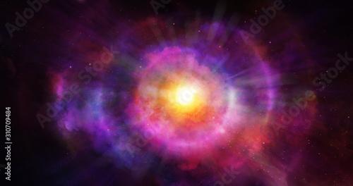 Abstract clouds of supernova explosion, color smoke colorful texture nebula b...