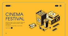 Cinema Festival Isometric Land...