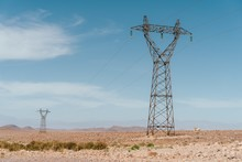 Transmission Tower In A Desert...