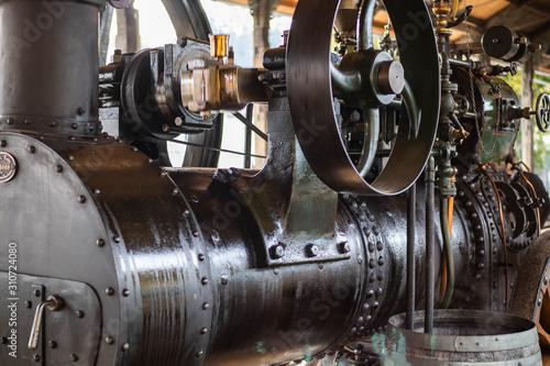 Uralte Dampfmaschine Canvas Print