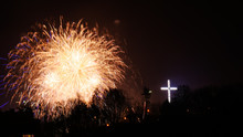 Colorful Fireworks At Holiday ...