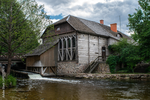 Ginuciai Watermill in Aukstaitija National Park, Lithuania Wallpaper Mural