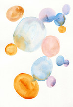 Colorful Circles On Paper