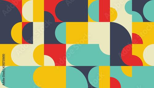 Abstract Mosaic Pattern Design Canvas Print