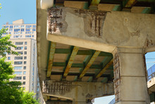 Crumbling Concrete And Rust Un...