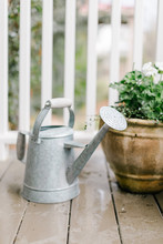 Old Metal Watering Can