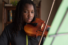 Black Girl On Viola